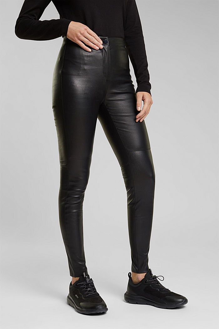 Treggings made of pure lamb leather