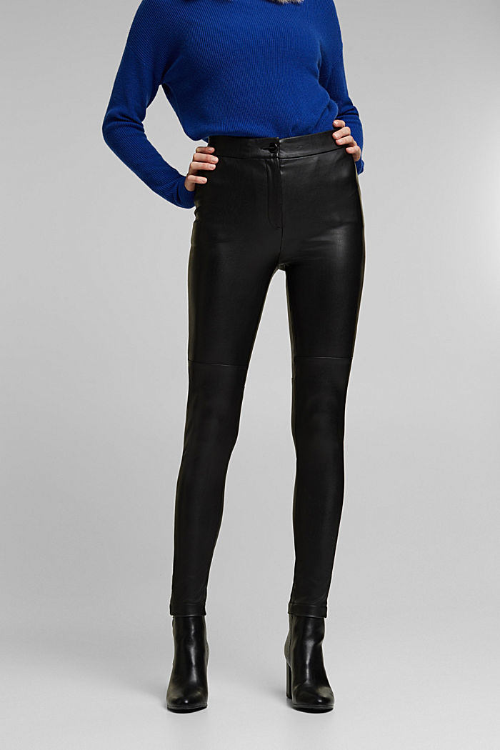 Faux leather trousers, BLACK, detail image number 0