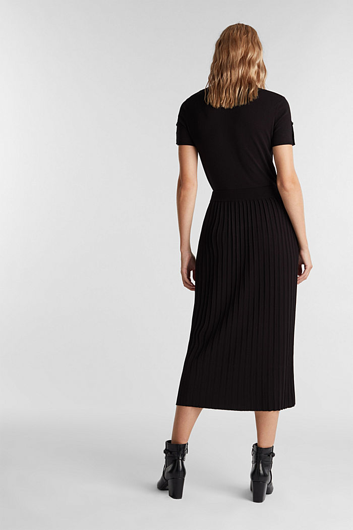 Skirt made of LENZING™ ECOVERO™, BLACK, detail image number 3