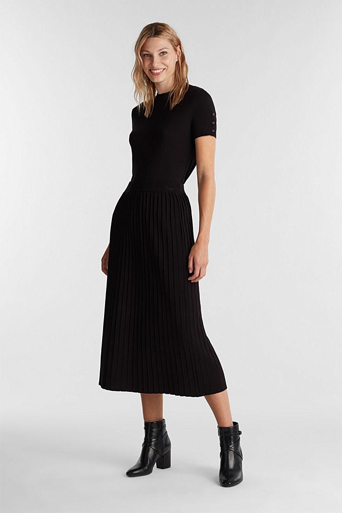 Skirt made of LENZING™ ECOVERO™, BLACK, detail image number 1