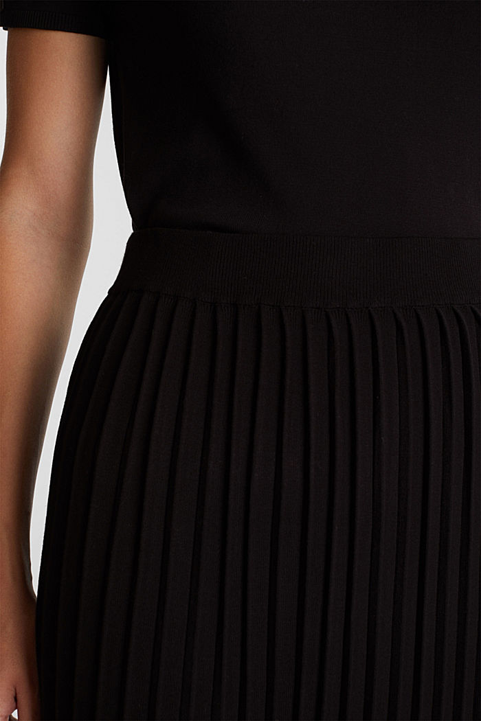 Skirt made of LENZING™ ECOVERO™, BLACK, detail image number 2