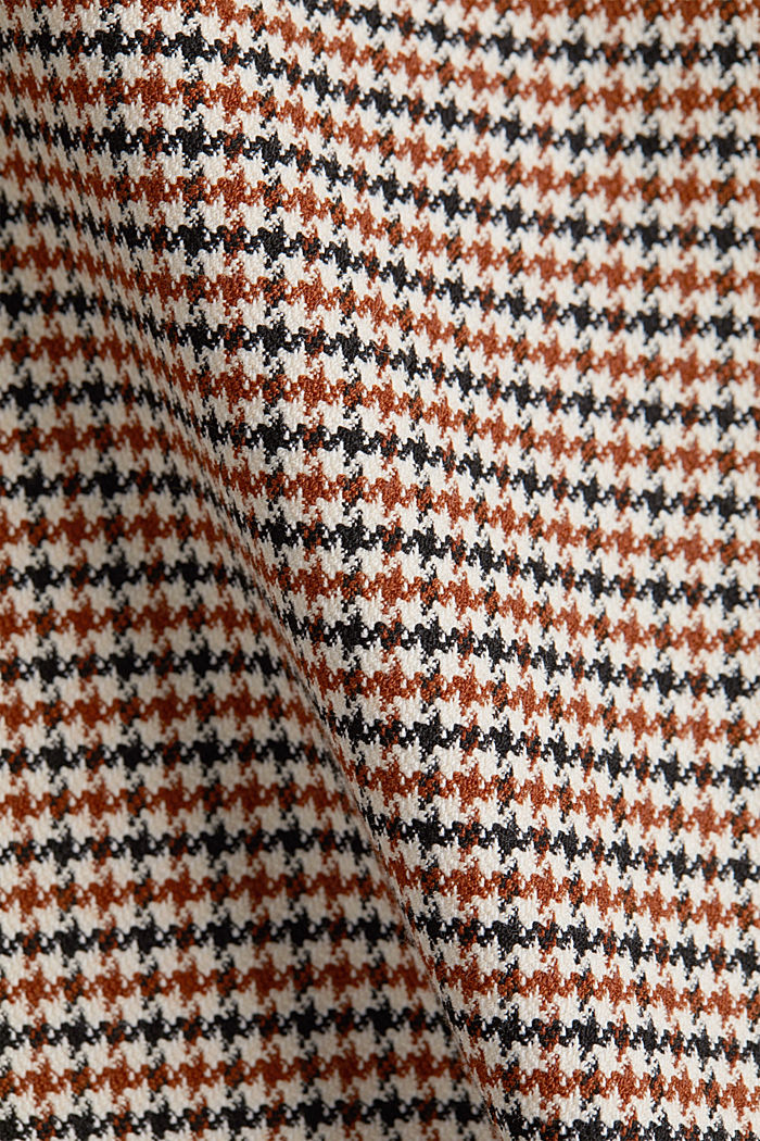 Recycled: Skirt with a herringbone pattern, TOFFEE, detail image number 4