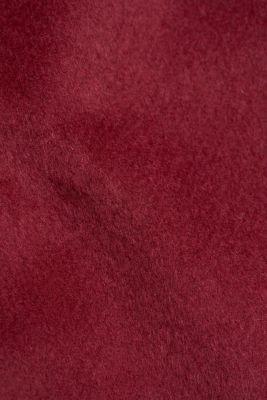 Made of blended wool: mini skirt, BORDEAUX RED, detail