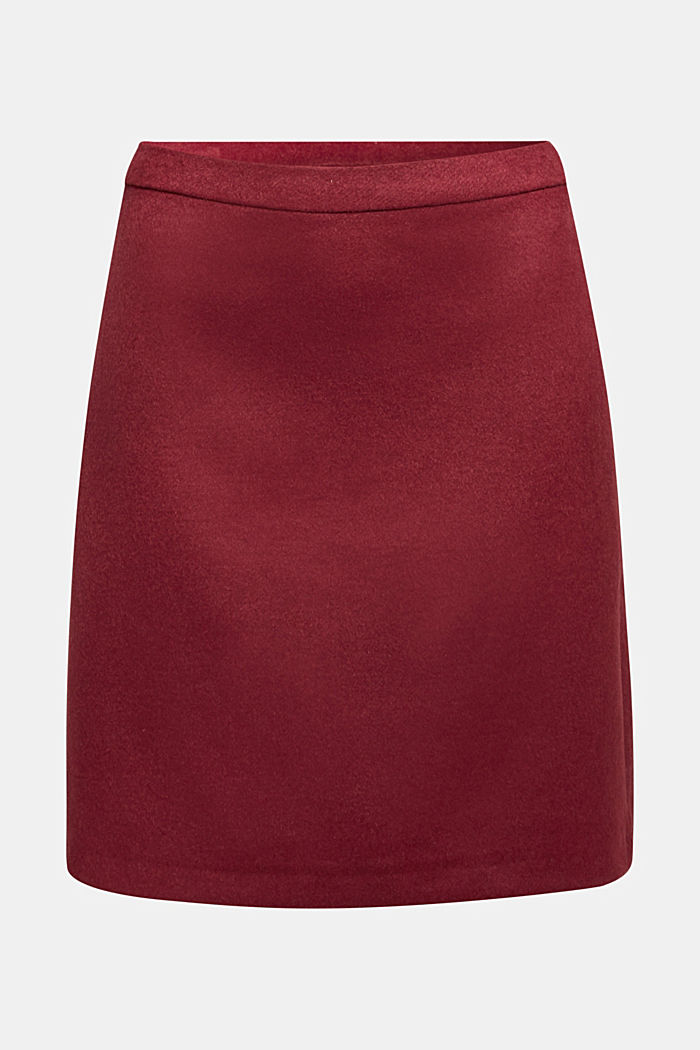 Made of blended wool: mini skirt