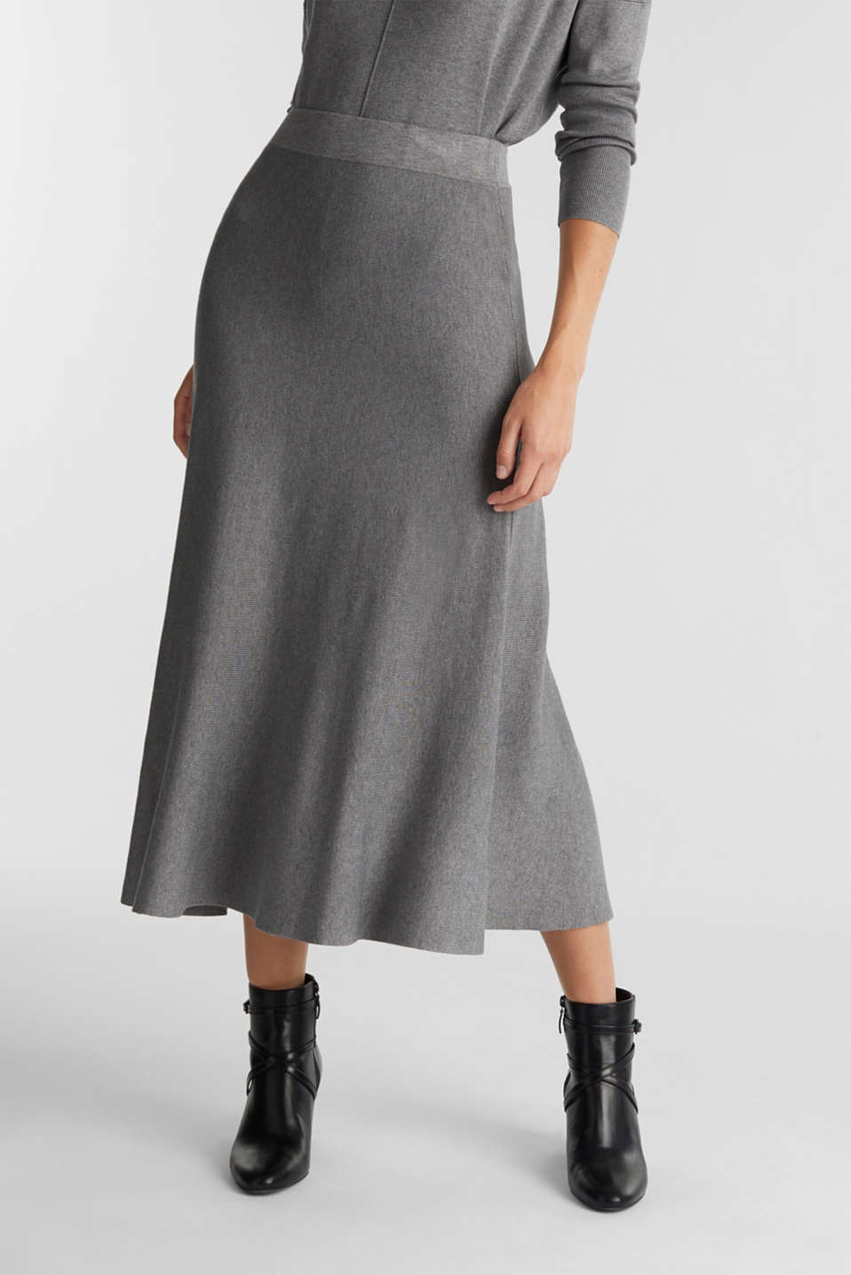 Esprit - Knitted skirt made of LENZING™ ECOVERO™