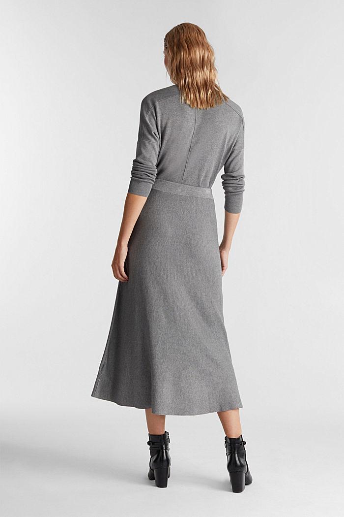 Knitted skirt made of LENZING™ ECOVERO™, GUNMETAL, detail image number 3