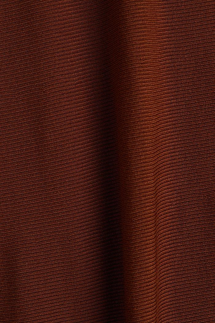 Gebreide rok van LENZING™ ECOVERO™, TOFFEE, detail image number 4
