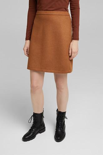Made of blended wool: mini skirt