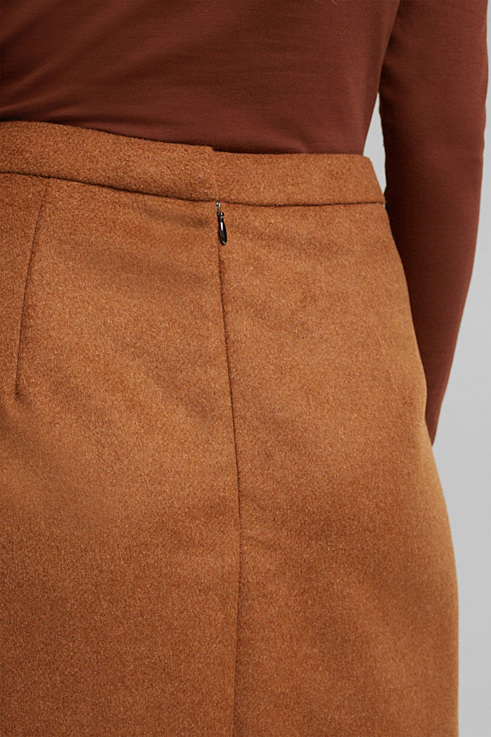 Made of blended wool: mini skirt, TOFFEE, detail image number 2