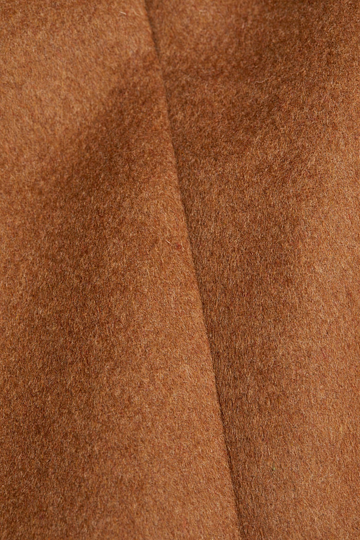 Made of blended wool: mini skirt, TOFFEE, detail image number 4