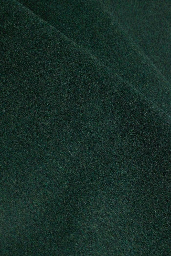 Made of blended wool: mini skirt, BOTTLE GREEN, detail image number 4