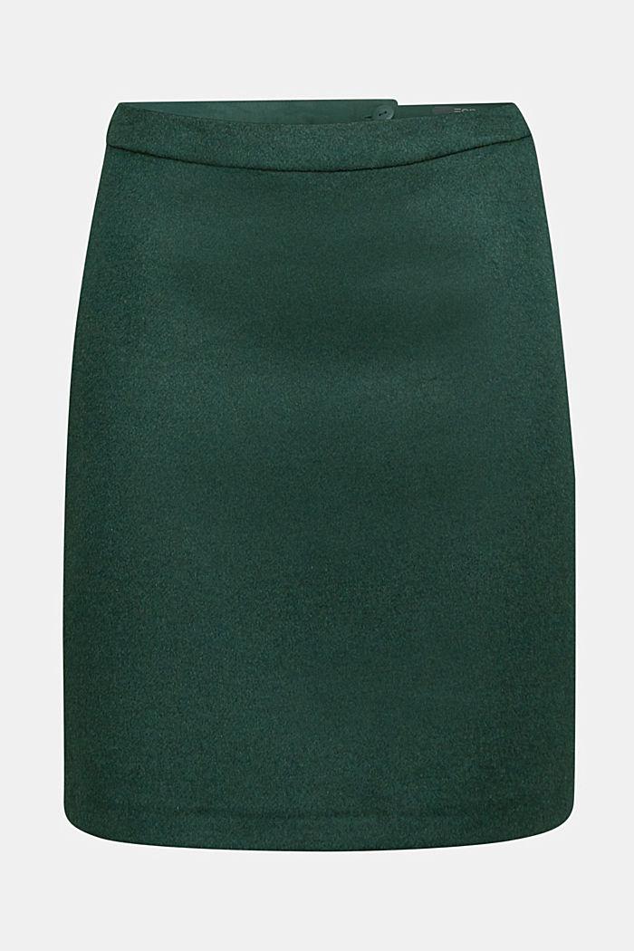 Made of blended wool: mini skirt, BOTTLE GREEN, detail image number 6