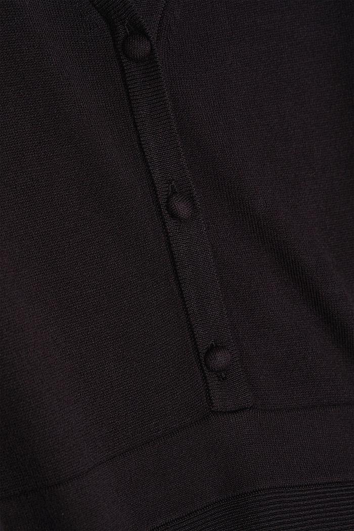 Midi knit dress with LENZING™ ECOVERO™, BLACK, detail image number 4