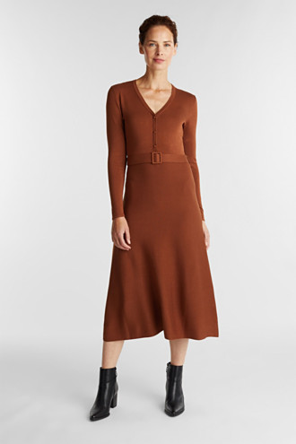 Midi knit dress with LENZING™ ECOVERO™