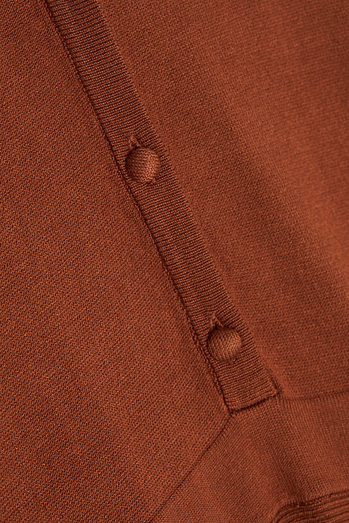 Midi knit dress with LENZING™ ECOVERO™, TOFFEE, detail image number 3