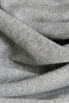 With cashmere: knit dress with a belt, GUNMETAL 5, detail