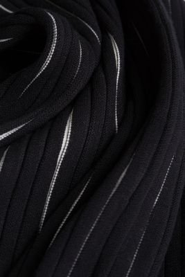 Rib knit dress with LENZING™ ECOVERO™, BLACK 2, detail