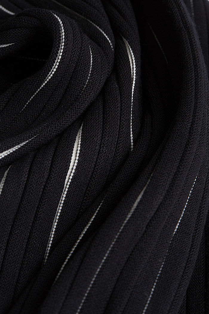 Rib knit dress with LENZING™ ECOVERO™, BLACK, detail image number 4