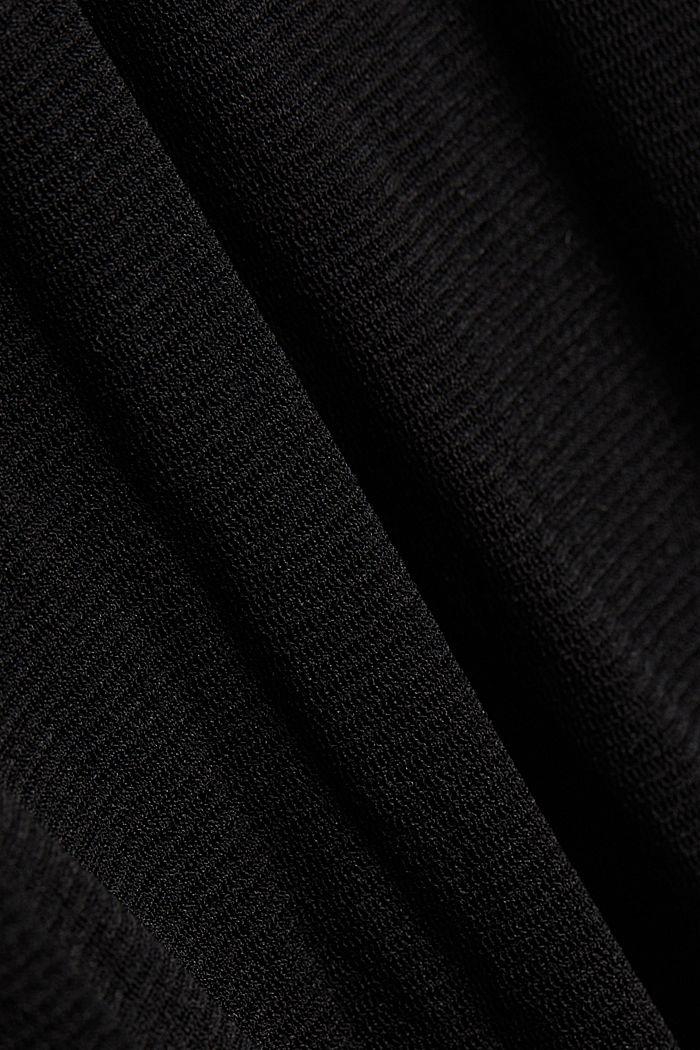 Midi shirt dress made of mesh fabric, BLACK, detail image number 4
