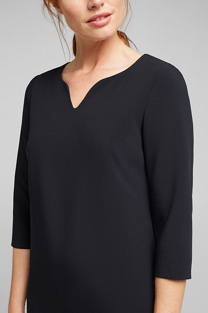 Shift dress with a cup neckline, BLACK, detail image number 2