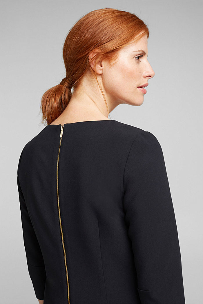 Shift dress with a cup neckline, BLACK, detail image number 5