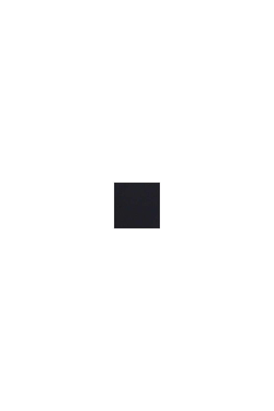 Shift-Kleid mit Kelch-Ausschnitt, BLACK, swatch