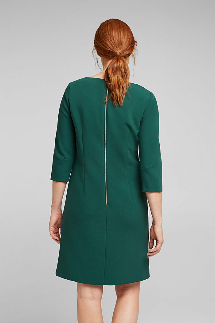 Shift dress with a cup neckline, BOTTLE GREEN, detail image number 3