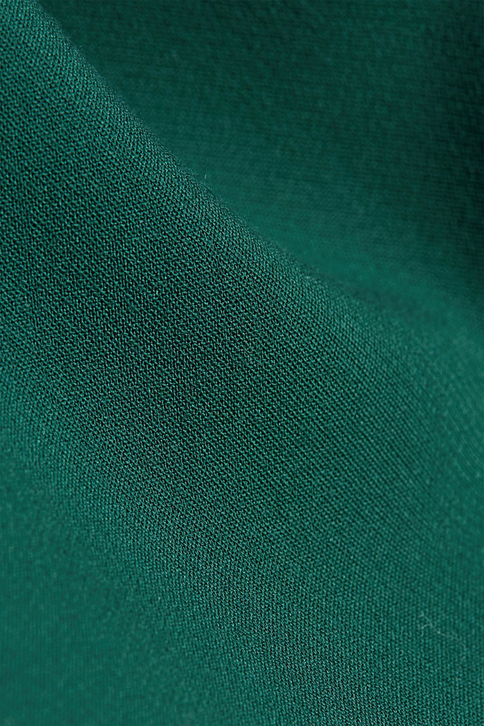 Shift dress with a cup neckline, BOTTLE GREEN, detail image number 4
