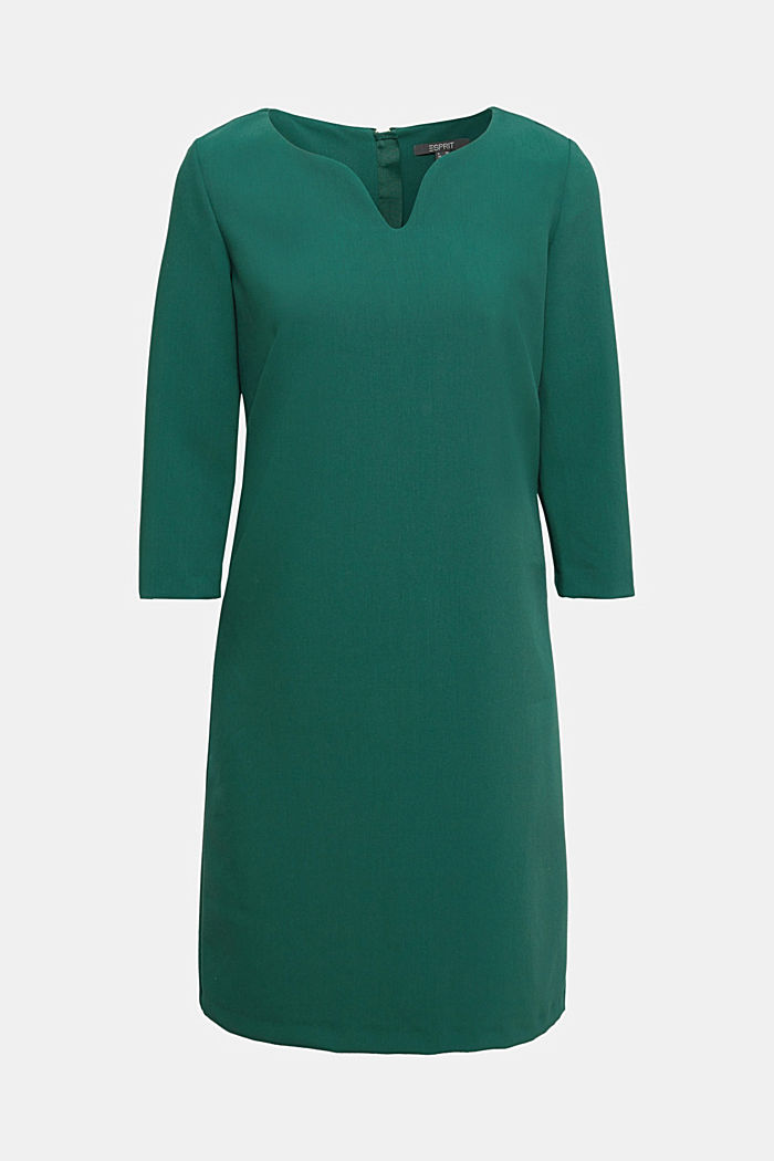 Shift dress with a cup neckline, BOTTLE GREEN, detail image number 6