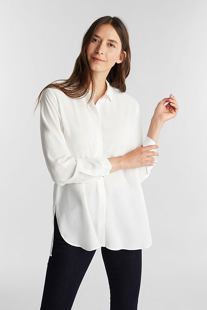 Blouse made from LENZING™ ECOVERO™, OFF WHITE, detail image number 0