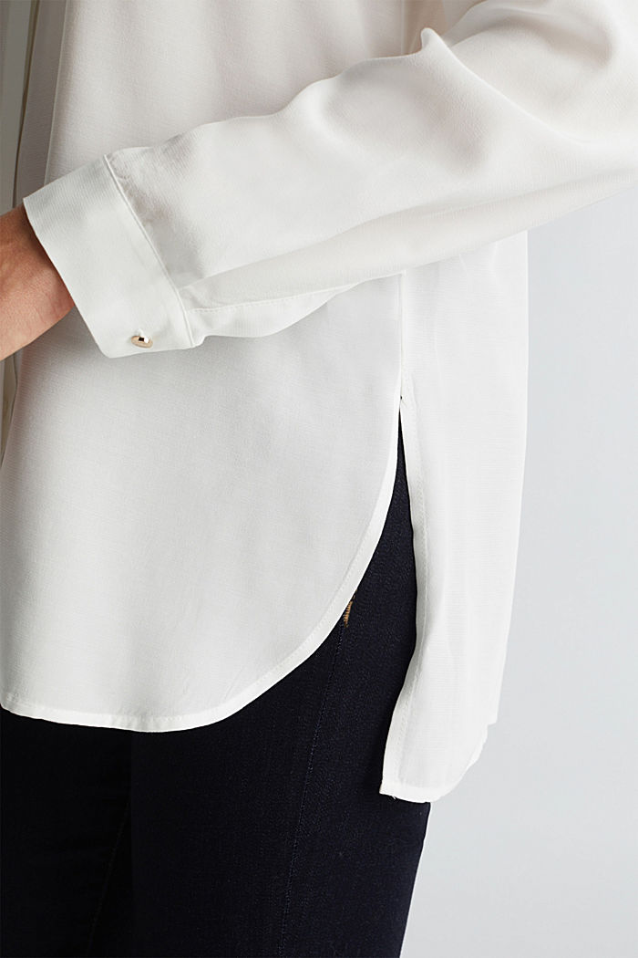Blouse made from LENZING™ ECOVERO™, OFF WHITE, detail image number 5
