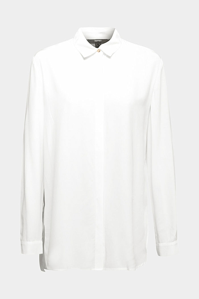 Blouse made from LENZING™ ECOVERO™, OFF WHITE, detail image number 6