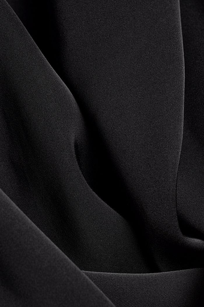 Satin blouse made of LENZING™ ECOVERO™, BLACK, detail image number 4