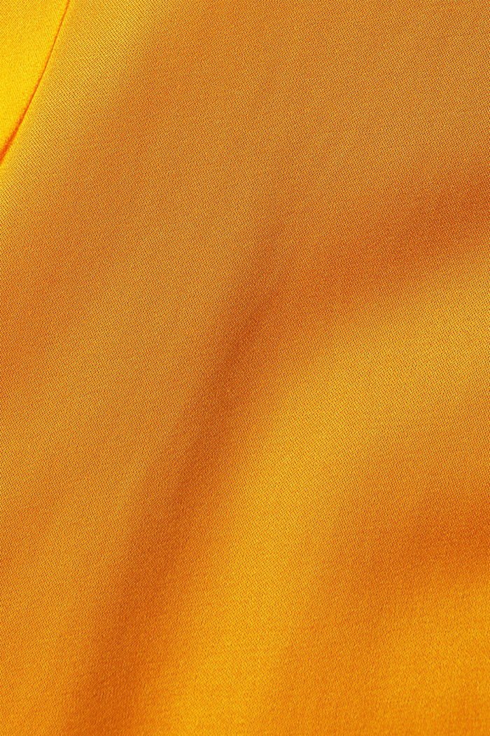 Satin-Bluse aus  LENZING™ ECOVERO™, HONEY YELLOW, detail image number 4