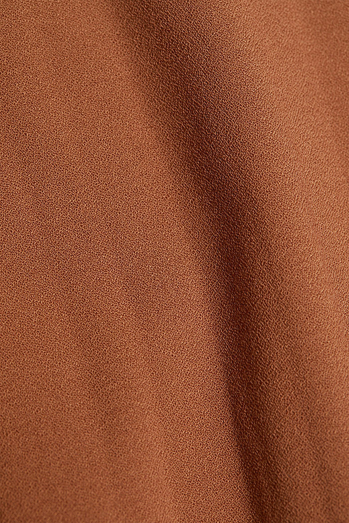 RECYCLED: modern blouse with pleats, TOFFEE, detail image number 4