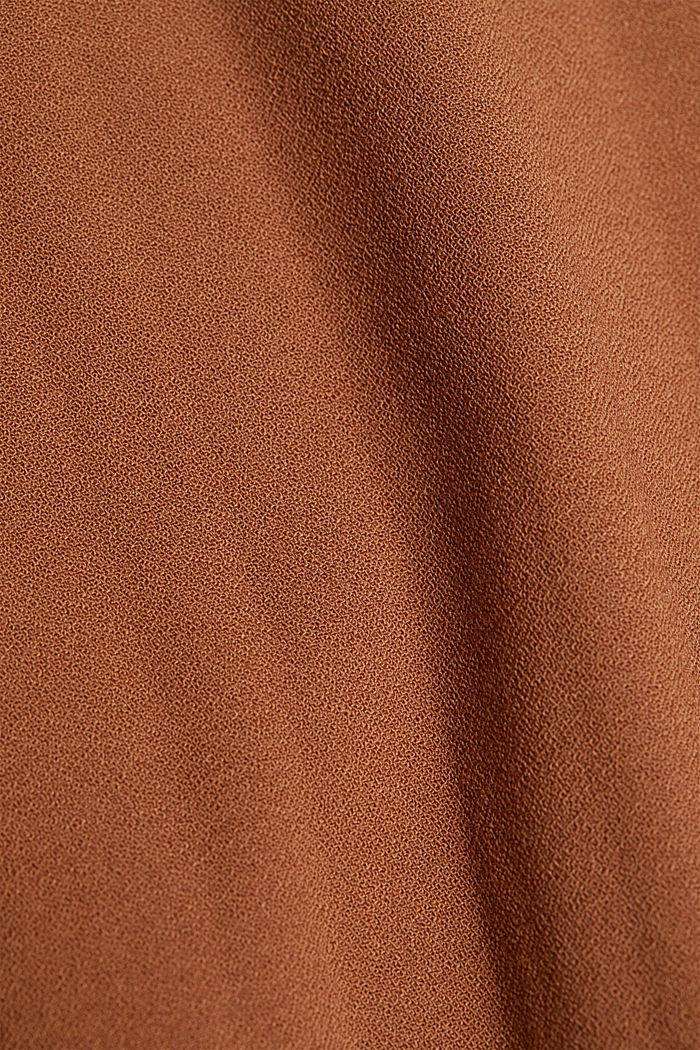 RECYKLOVANÁ: moderní halenka s plisovanými sklady, TOFFEE, detail image number 4