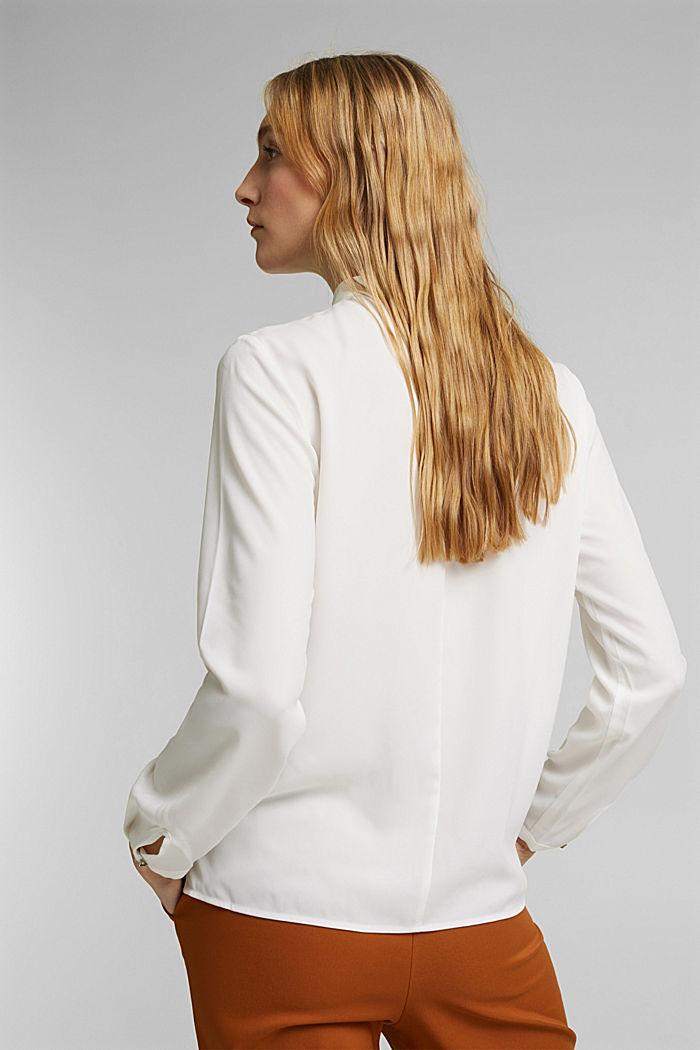 Reciclada: blusa con detalle de pliegues, OFF WHITE, detail image number 3