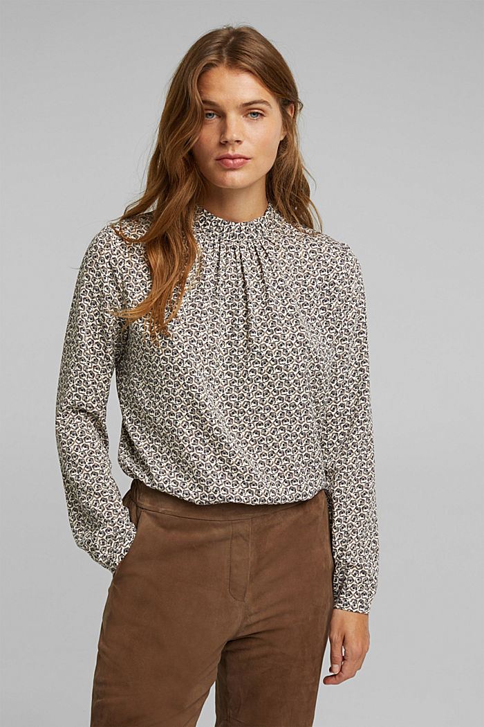 Recycled: Print blouse
