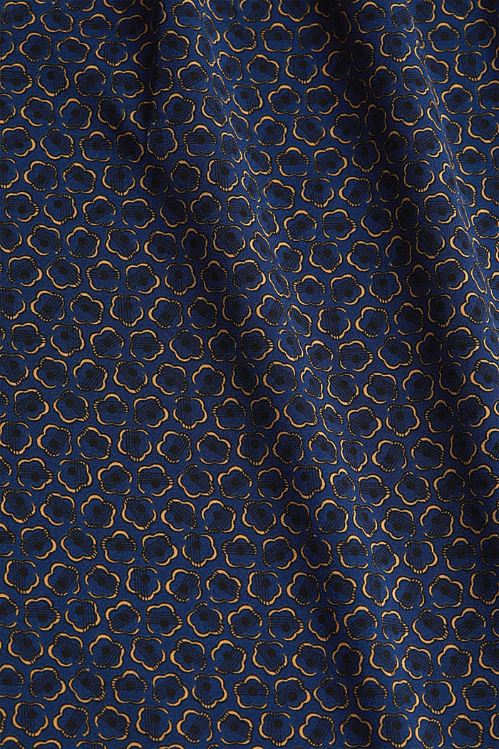 Recycled: Print blouse, NAVY, detail image number 4