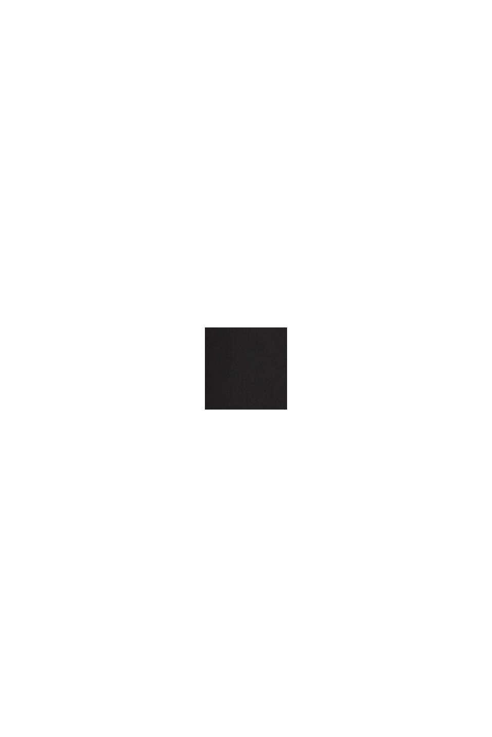 Aus Seiden-Mix: Bluse im Hemd-Stil, BLACK, swatch