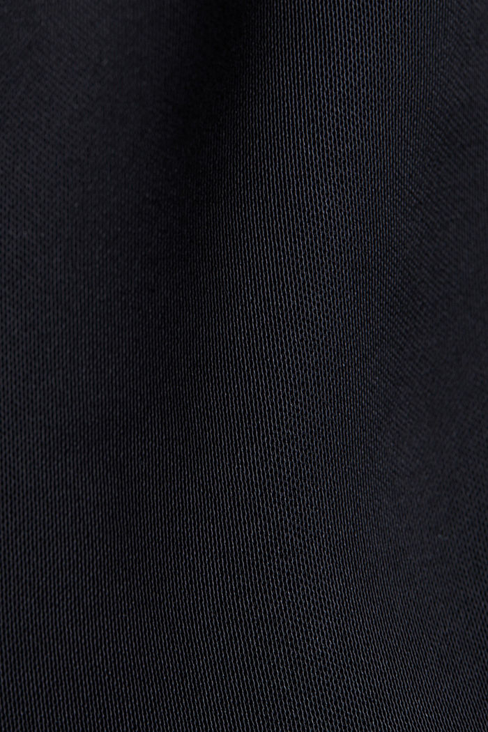Blouse top with LENZING™ ECOVERO™, BLACK, detail image number 4