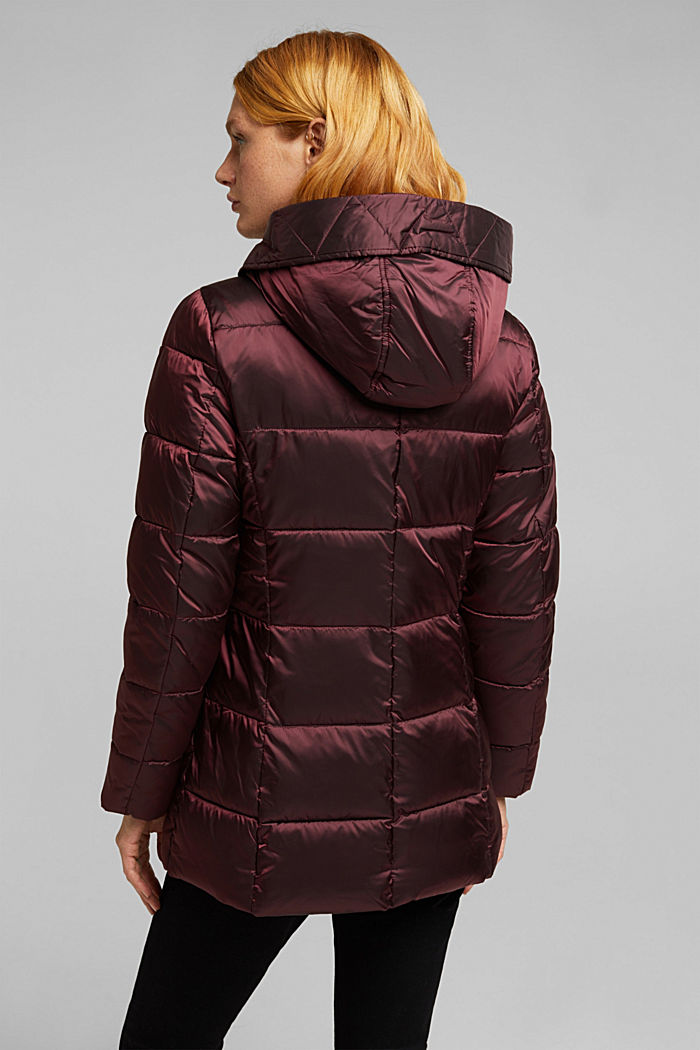 Recycled: jacket featuring 3M™ Thinsulate™, BORDEAUX RED, detail image number 3