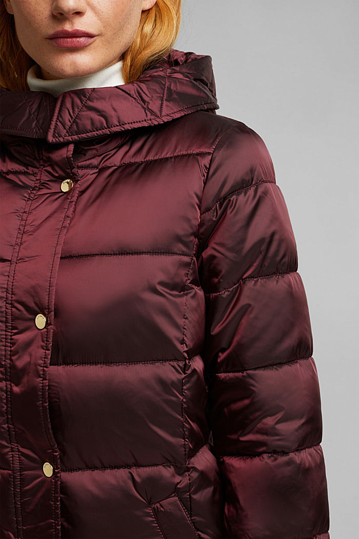 Recycled: jacket featuring 3M™ Thinsulate™, BORDEAUX RED, detail image number 2