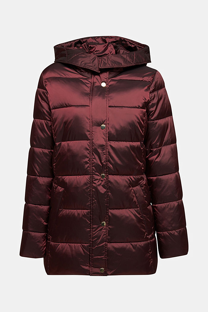 Recycled: jacket featuring 3M™ Thinsulate™, BORDEAUX RED, detail image number 7