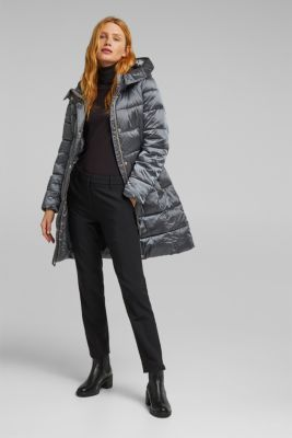 Recycled: coat featuring 3M™ Thinsulate™, GUNMETAL, detail