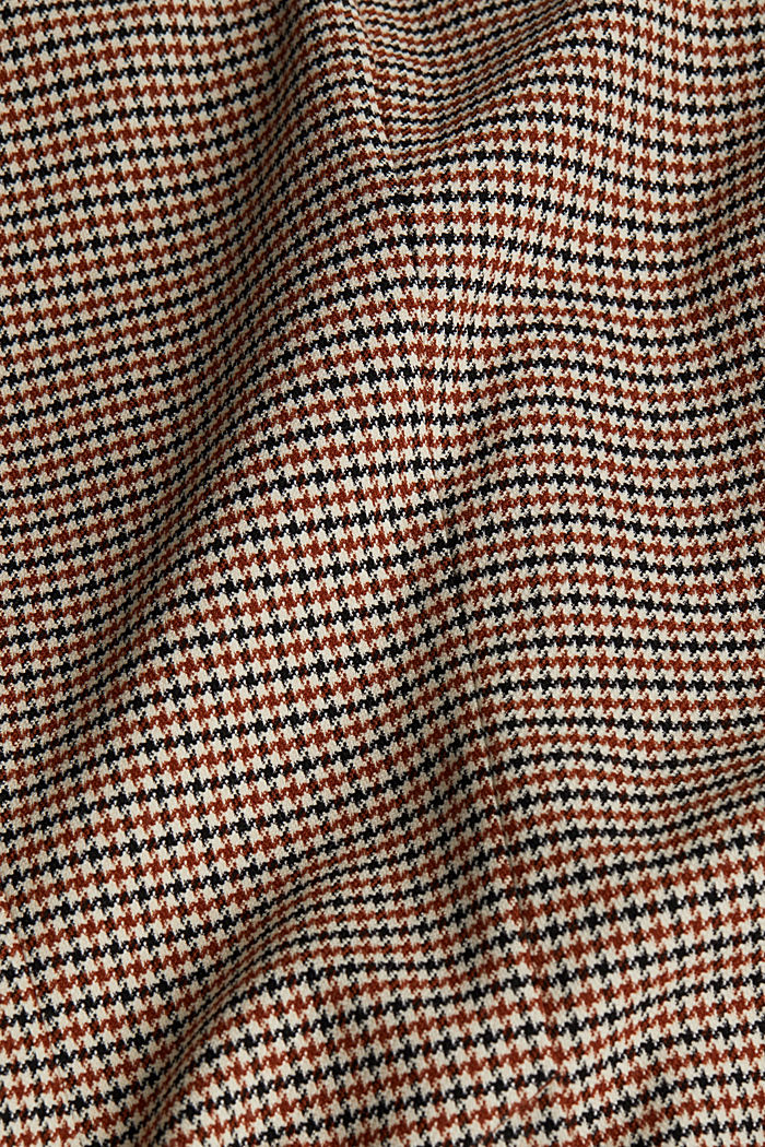 Recycled fitted houndstooth blazer, TOFFEE, detail image number 3