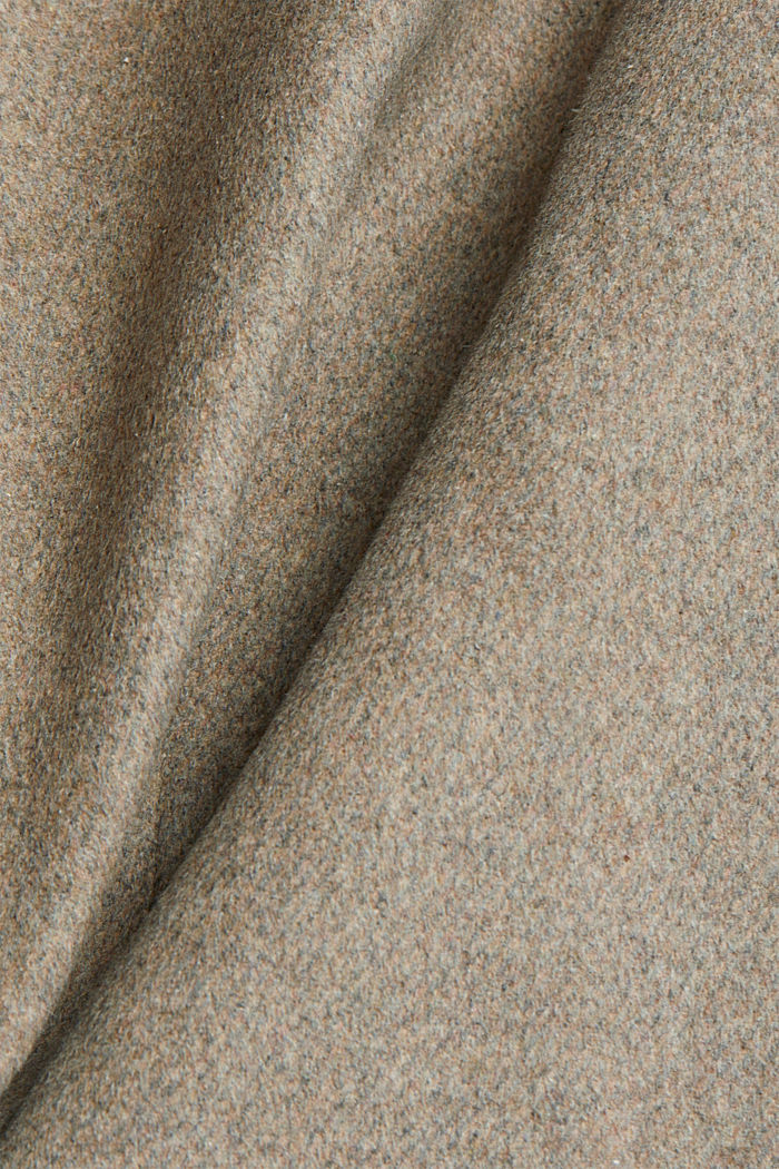 Wool blend: Coat with a hood, LIGHT TAUPE, detail image number 4