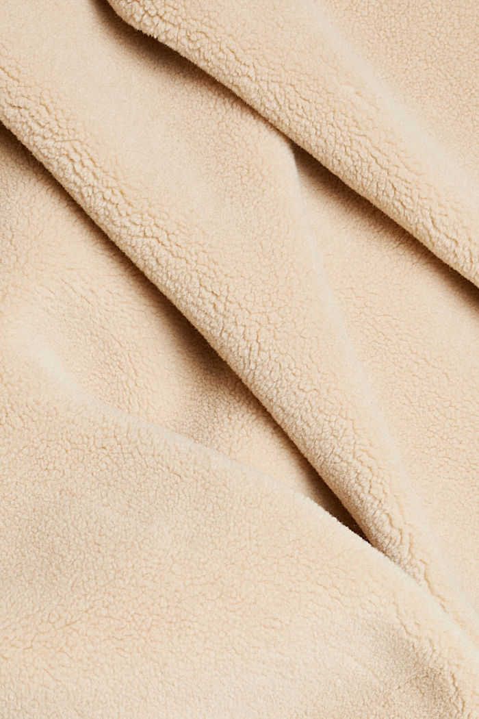 Faux shearling coat, SAND, detail image number 4