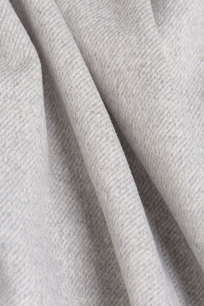 Padded coat with faux fur and wool, LIGHT GREY, detail image number 4