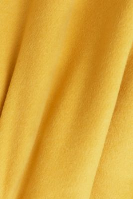 Padded coat with faux fur and wool, AMBER YELLOW, detail